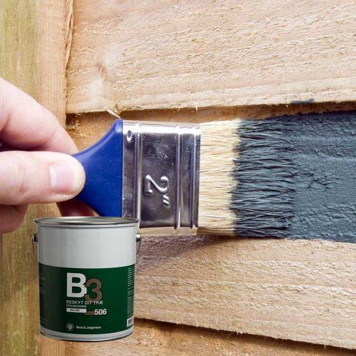 Beck og Jørgen B3 506 heldækkende træbeskyttelse til plankeværk