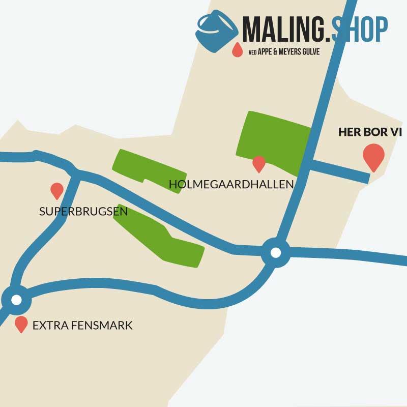 Rutevejledning til Maling Shop