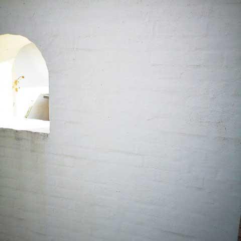 Flot mur efter rengøring med Micronil