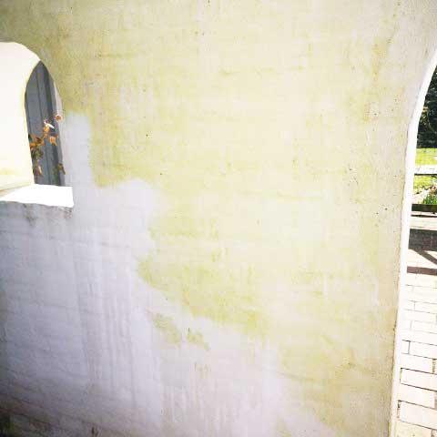 Mur før rengøring med Micronil