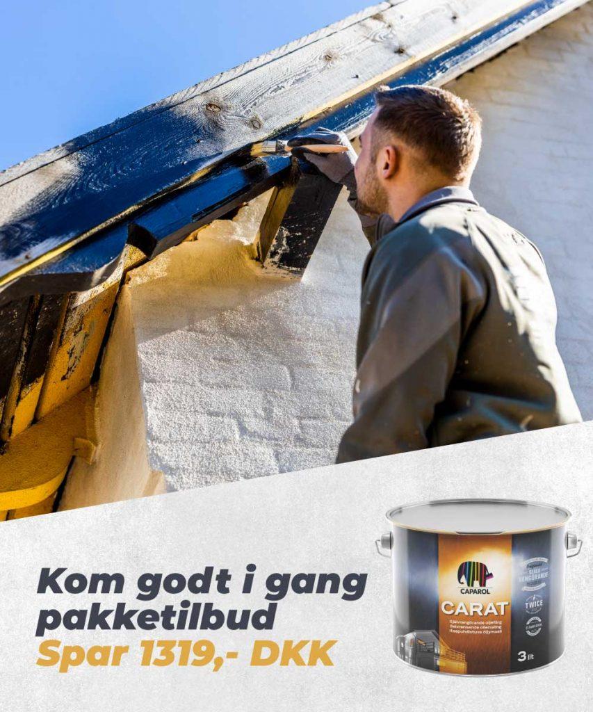 Pakketilbud på træbeskyttelse banner mobil