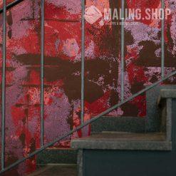 Rød pink og brun indfarvet spartel Stucco Satinato