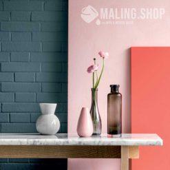 Indfarvet spartel stuccodecor di luce pink og rouge