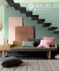 Indfarvet spartel stuccodecor di luce stue og trappe