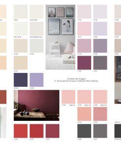 Farvekort til indendørsmaling
