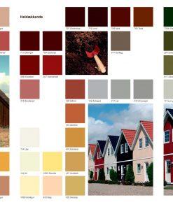 Farvekort til træbeskyttelse