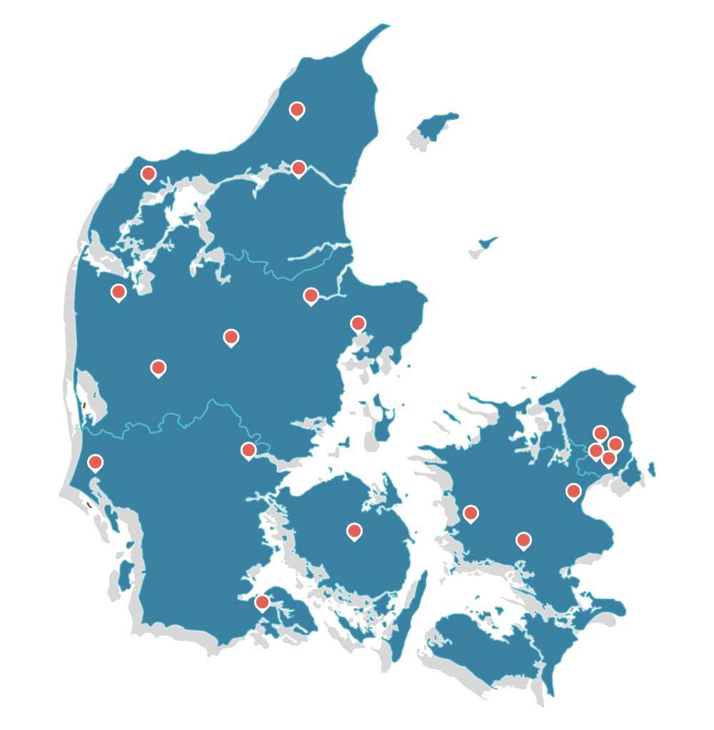 Bestil og afhent maling i hele Danmark
