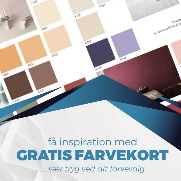 Gratis farvekort til maling